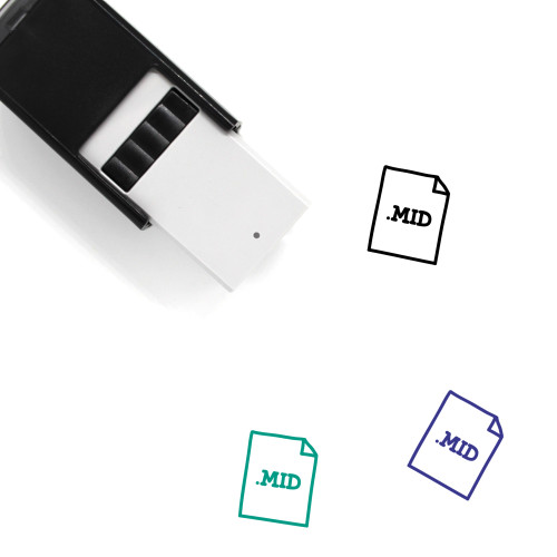 .MID File Self-Inking Rubber Stamp No. 1