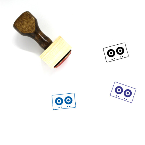 Cassette Tape Wooden Rubber Stamp No. 14