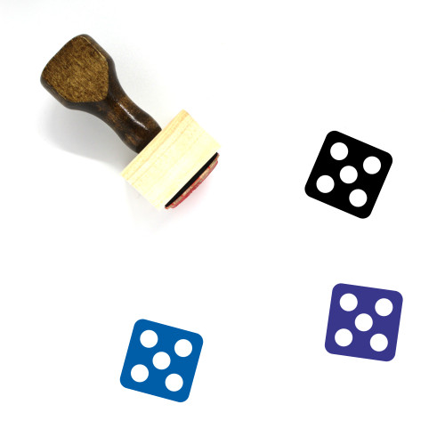 Dice Wooden Rubber Stamp No. 50