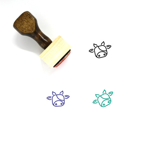 Ox Wooden Rubber Stamp No. 7