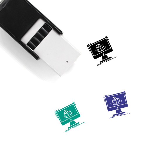 3D Cube Self-Inking Rubber Stamp No. 2