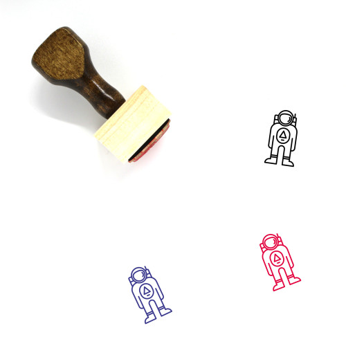 Astronaut Wooden Rubber Stamp No. 27