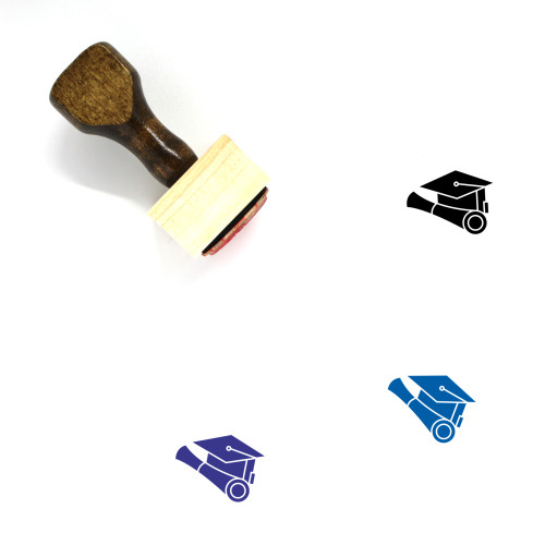 Academic Degree Wooden Rubber Stamp No. 4