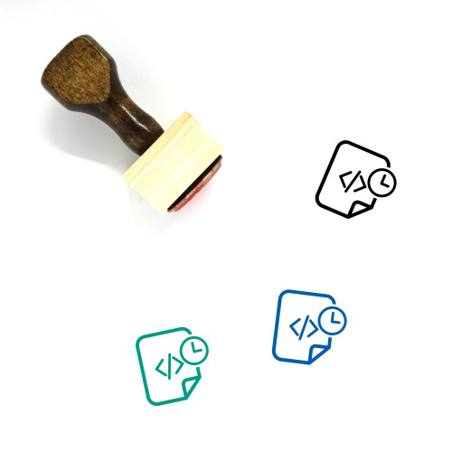 Code Reaming Wooden Rubber Stamp No. 1