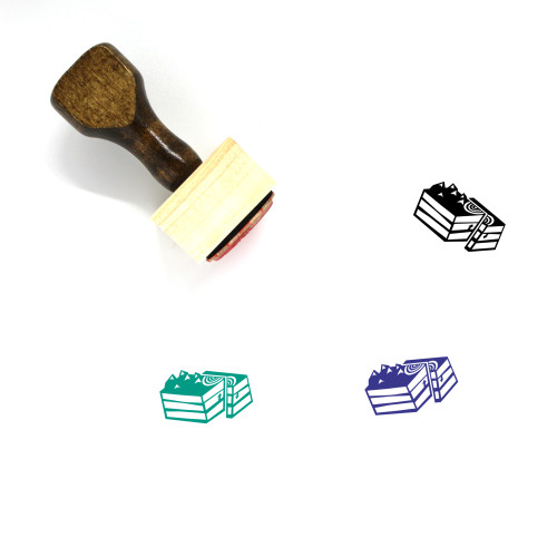 Thrust Fault Wooden Rubber Stamp No. 1