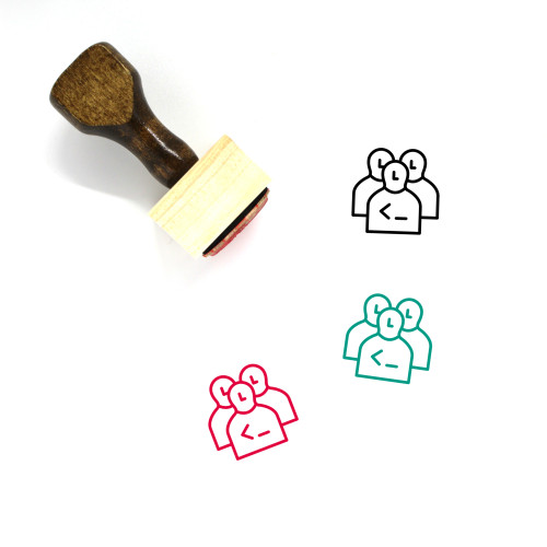 Developers Wooden Rubber Stamp No. 5