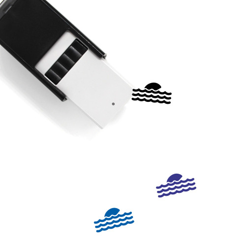 Shark Fin Self-Inking Rubber Stamp No. 8