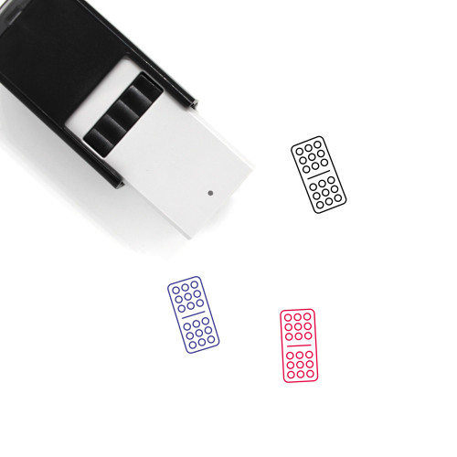Domino Self-Inking Rubber Stamp No. 101