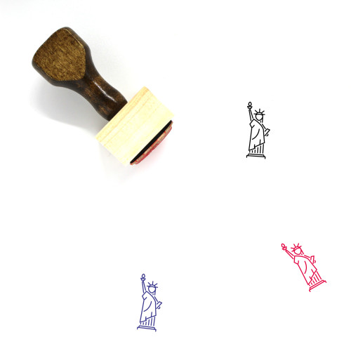 Statue Of Liberty Wooden Rubber Stamp No. 41