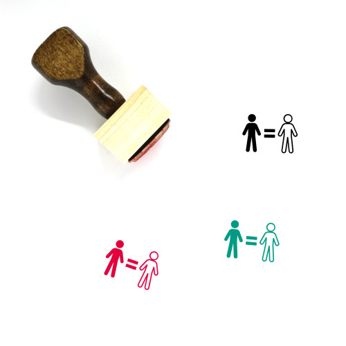 Equality Wooden Rubber Stamp No. 28