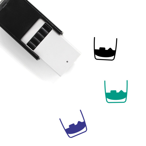 Whiskey Glass Self-Inking Rubber Stamp No. 6