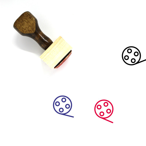 Video Reel Wooden Rubber Stamp No. 10