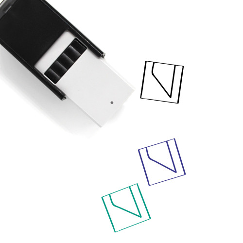 Abstract Self-Inking Rubber Stamp No. 10