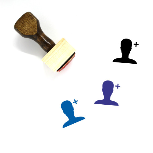 Add User Wooden Rubber Stamp No. 40
