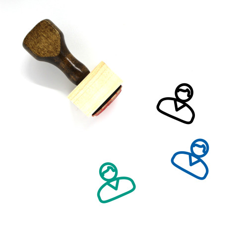 Account Wooden Rubber Stamp No. 68