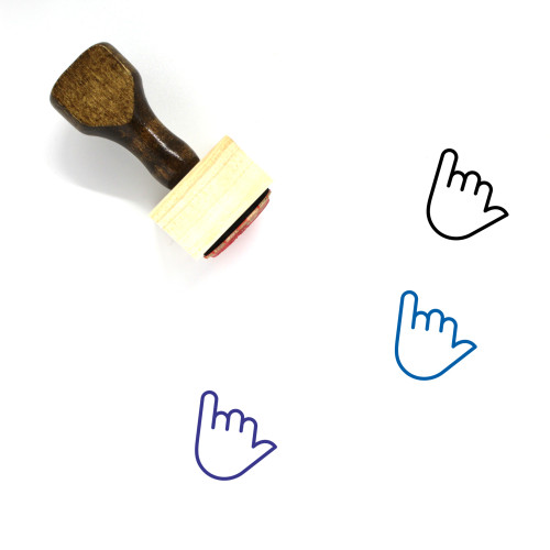Shaka Wooden Rubber Stamp No. 16