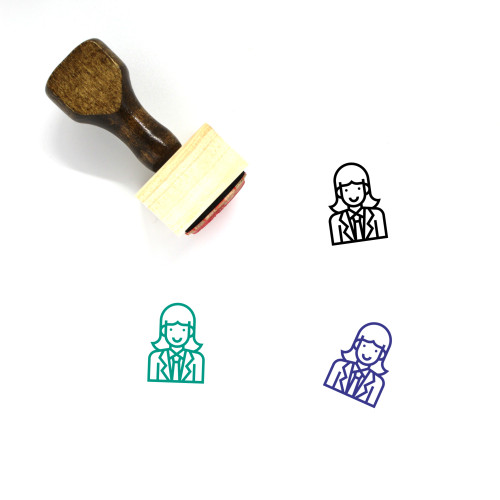 Officer Wooden Rubber Stamp No. 23