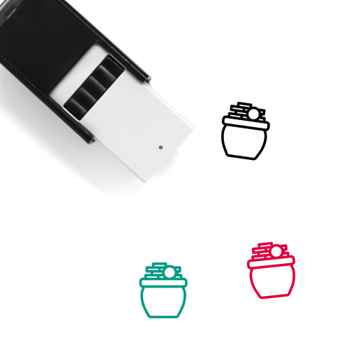 Pot Of Gold Self-Inking Rubber Stamp No. 24