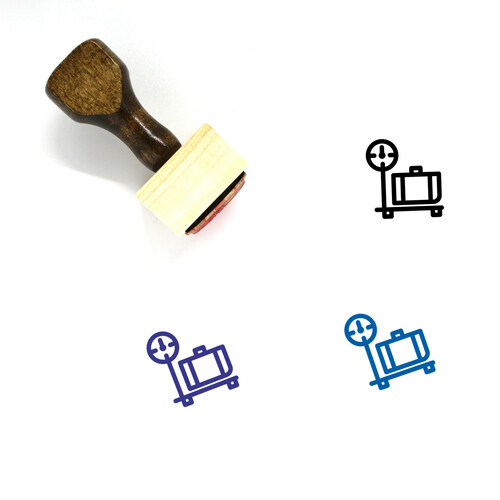 Luggage Scale Wooden Rubber Stamp No. 3