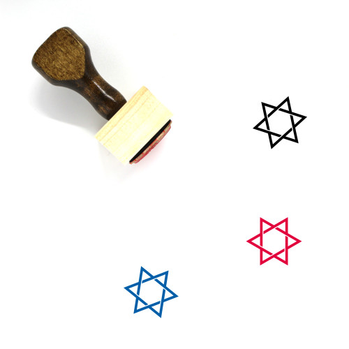 Star Of David Wooden Rubber Stamp No. 35