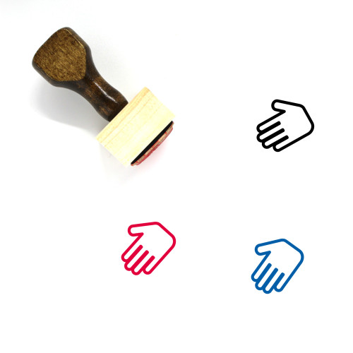 Hand Shake Wooden Rubber Stamp No. 10