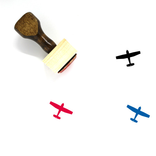 Airplane Wooden Rubber Stamp No. 241