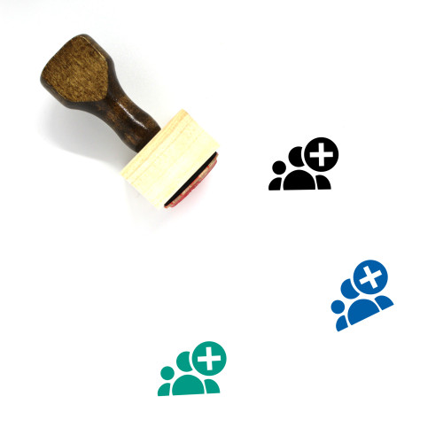 Add Group Wooden Rubber Stamp No. 1
