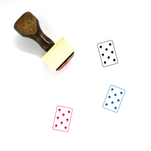 8 Of Spades Wooden Rubber Stamp No. 3