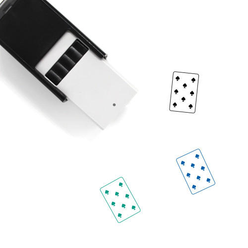 8 Of Spades Self-Inking Rubber Stamp No. 3