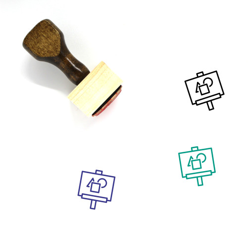 Artboard Wooden Rubber Stamp No. 15