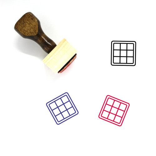 Chess Board Wooden Rubber Stamp No. 15