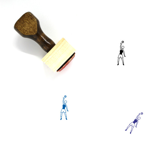 Volleyball Wooden Rubber Stamp No. 21