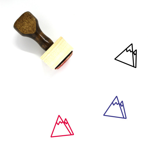 Mountains Wooden Rubber Stamp No. 213