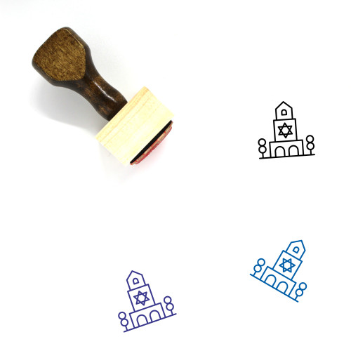 Synagogue Wooden Rubber Stamp No. 8