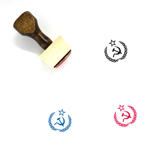 Hammer And Sickle Wooden Rubber Stamp No. 6