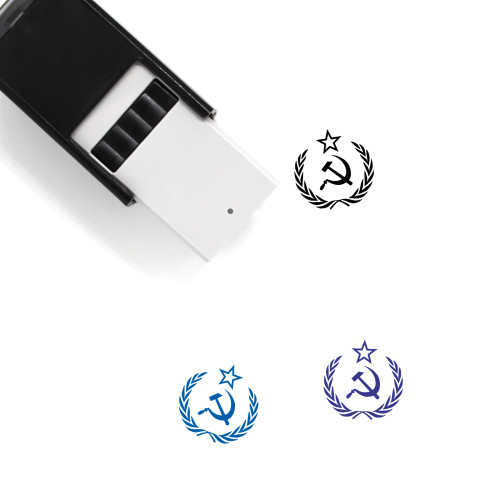 Hammer And Sickle Self-Inking Rubber Stamp No. 6