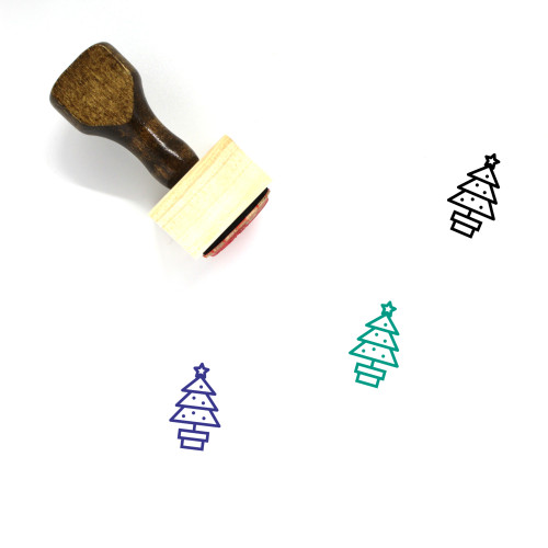 Christmas Tree Wooden Rubber Stamp No. 87
