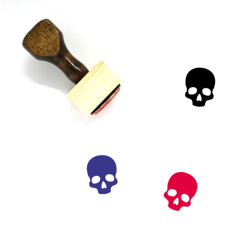 Skull Wooden Rubber Stamp No. 11