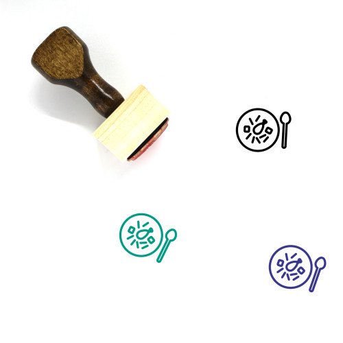 Soup Wooden Rubber Stamp No. 11