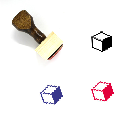Pixel Art Wooden Rubber Stamp No. 1