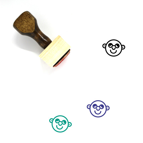 Tired Wooden Rubber Stamp No. 23