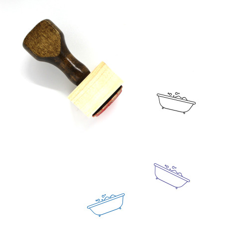 Bathtub Wooden Rubber Stamp No. 6