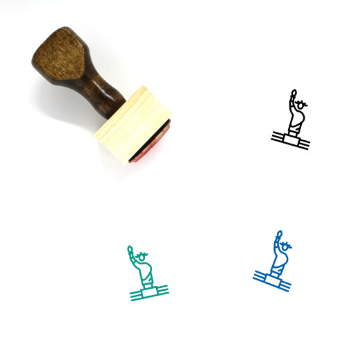 Statue Of Liberty Wooden Rubber Stamp No. 42