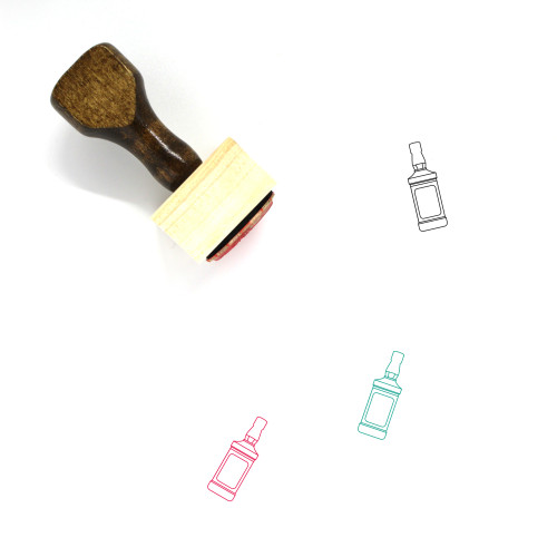 Whiskey Wooden Rubber Stamp No. 17