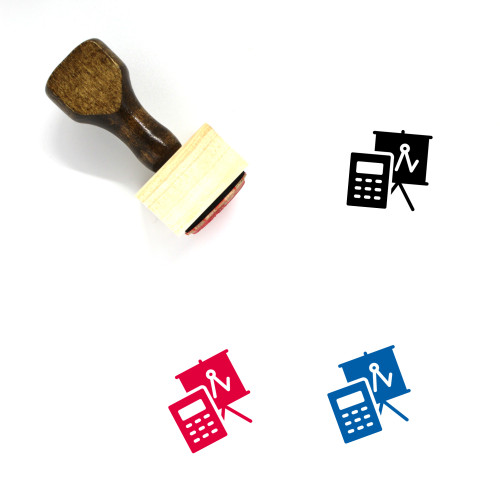 Account Wooden Rubber Stamp No. 75