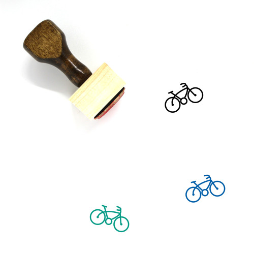 Bicycle Wooden Rubber Stamp No. 92