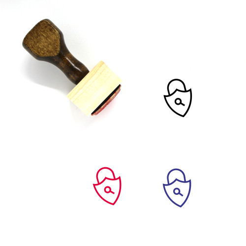 Security Badge Wooden Rubber Stamp No. 16