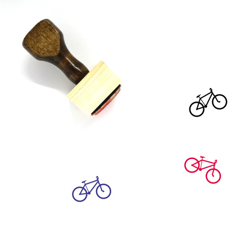 Bicycle Wooden Rubber Stamp No. 93