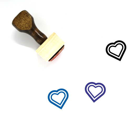 Heart Wooden Rubber Stamp No. 1364
