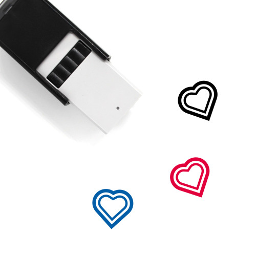 Heart Self-Inking Rubber Stamp No. 1364